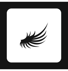 Fluffy wing icon simple style vector