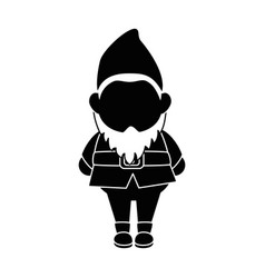 Gardening elf cartoon vector