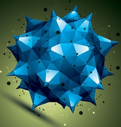 Geometric abstract 3D complicated lattice object vector
