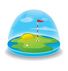Golf field sky vector