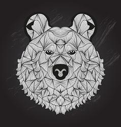 hand drawn decorative bear vector image