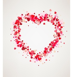 Happy Valentines day card frame vector image