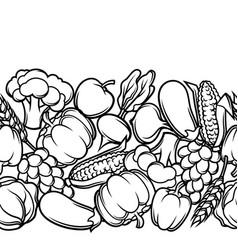 Harvest seamless pattern autumn vector