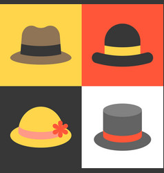Hat icons set vector