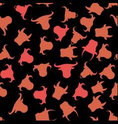 Head of bull seamless pattern vector