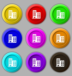 high-rise commercial buildings and residential vector image