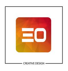 initial letter eo logo template design vector image