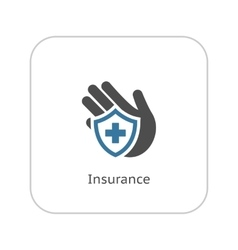 Insurance Icon Flat Design vector image