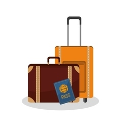 Isolated bag of travel design vector