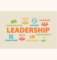 Leadership concept with icons vector