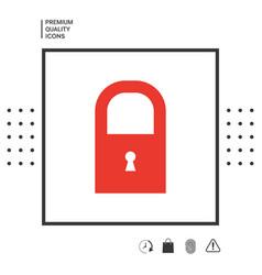 lock icon symbol vector image