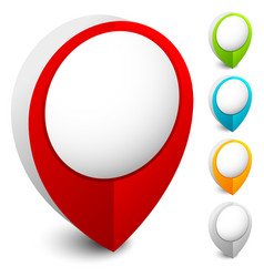 map marker map pin icon in 5 colors vector image