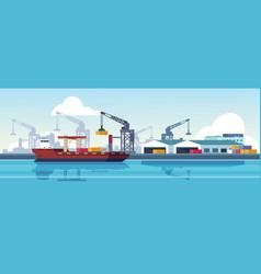 marine port shipping transportation and ocean vector image