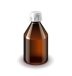 Medical dark glass bottle isolated vector image