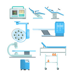 modern medical and examination equipment set of vector image