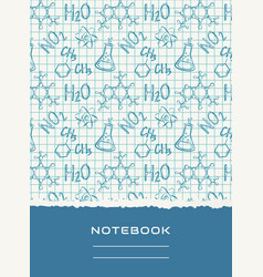 notebook cover design chemical background vector image