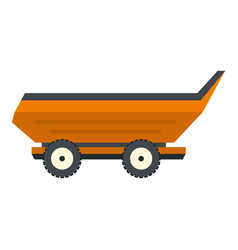 Orange car trailer icon isolated vector