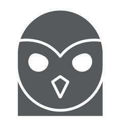 owl glyph icon animal and wild halloween sign vector image