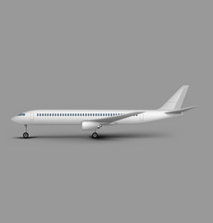 passenger airplane side view template vector image