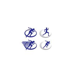 run sport logo icon vector image