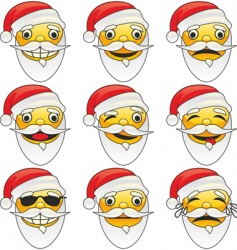 Santa Claus emotions vector