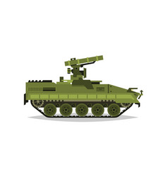 self-propelled anti-tank missile system research vector image
