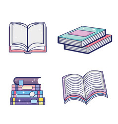 set of magic books vector image