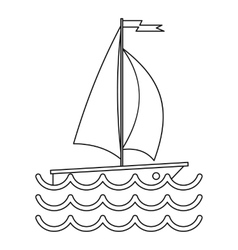 Ship yacht icon simple style vector