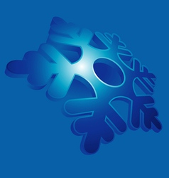 snowflake blue vector image