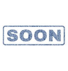 Soon textile stamp vector