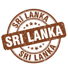 Sri lanka brown grunge round vintage rubber stamp vector