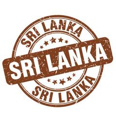 sri lanka brown grunge round vintage rubber stamp vector image