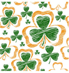 st patrick day seamless vector image