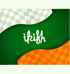 Stylized irish background vector