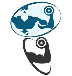 Symbol for gym vector