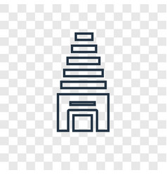 temple concept linear icon isolated on vector image