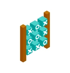 Tic tac toe game isometric 3d icon vector