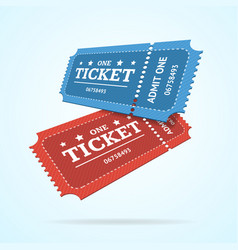 Ticket fly blank admit set retro old style vector