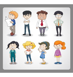 various persons vector image vector image