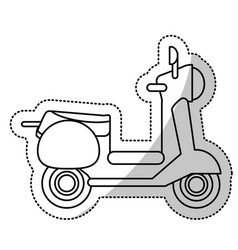 vespa scooter transport wheels cut line vector image