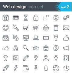 web design seo and development thin line icon set vector image
