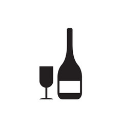 wine drink icon design template isolated vector image