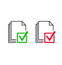 approve file icon vector image