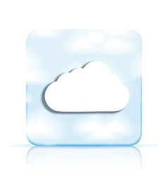 cloud app icon on white background Eps10 vector image vector image
