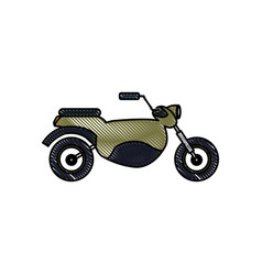 drawing motorcycle transport hobby vehicle vector image