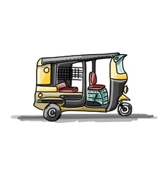 Indian taxi car sketch for your design vector image