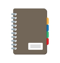 Closed notebook icon isolated on white vector image vector image