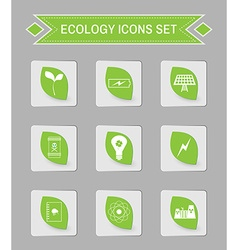 Ecology logo icon set vector image vector image