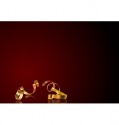gold ribbon background vector image