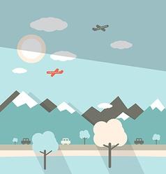 Landscape Flat Design vector image vector image